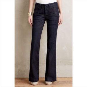 Pilcro Anthropologie trouser straight leg dark 31